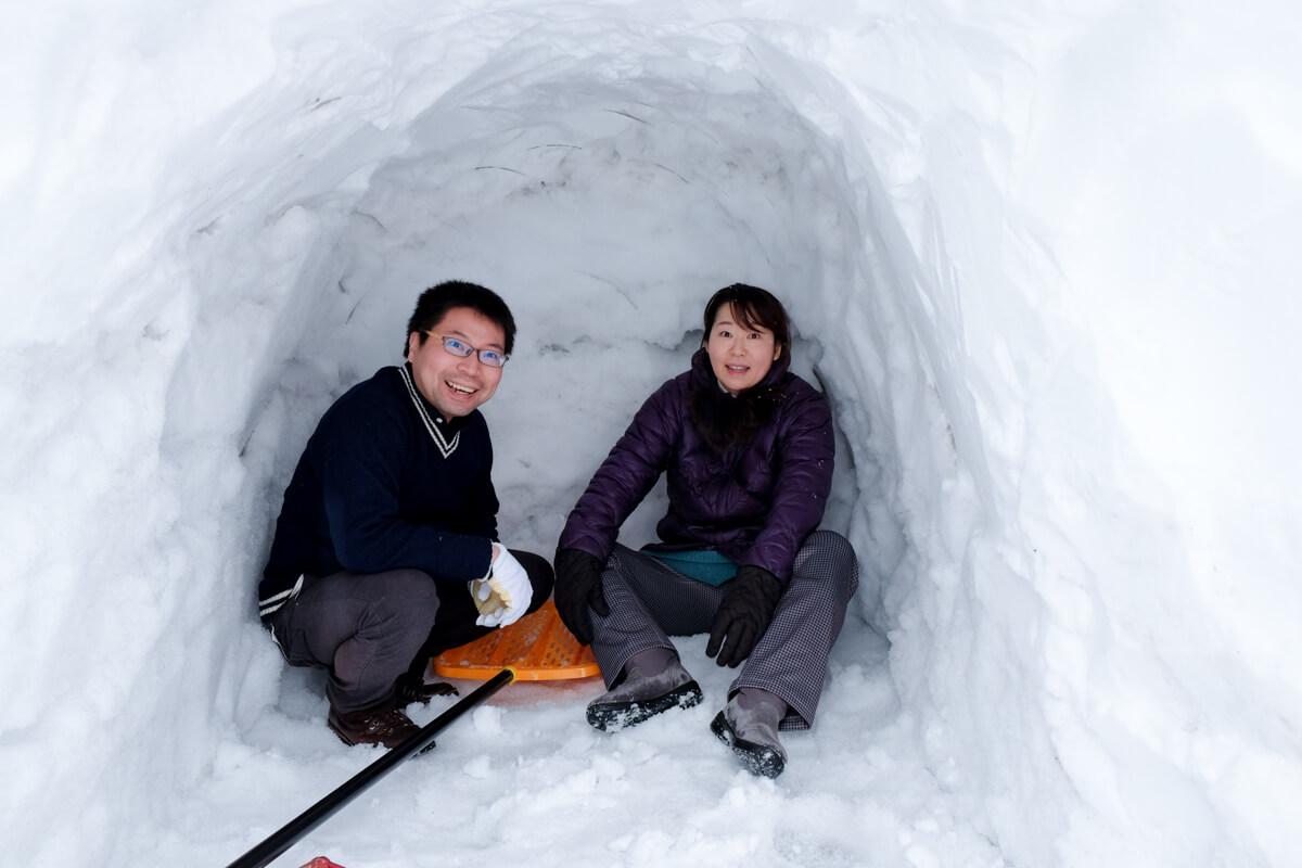 【かまくらバウルー】旅焼きin青森!雪見ホットサンドに舌鼓-06