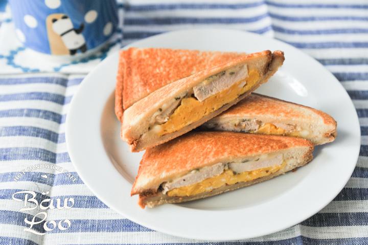 鶏ハムとスクランブルエッグの親子サンド